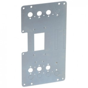 Mounting plates XL³ 4000 for 1 plug-in DPX³ 250 in transfer switch - vertical