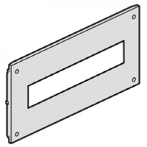 Metal faceplate XL³ 800/4000 - for modular devices - captive screws - 24 modules