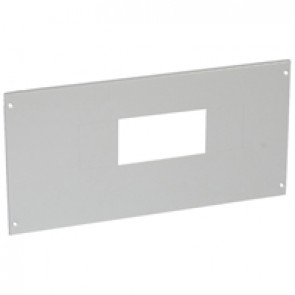 Metal faceplate XL³ 800/4000 - for DPX-IS 630 - captive screws - 24 modules