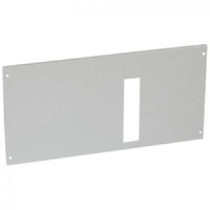 Metal faceplate XL³ 800/4000-For 1 DPX IS 250 H position-captive screws-24 modules