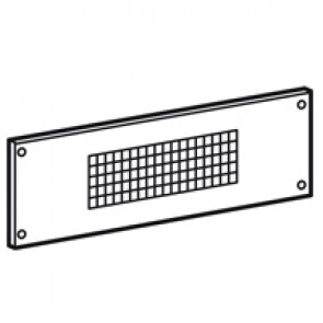 Ventilating faceplate XL³ 800/4000 - 24 modules - h 200 mm - screw mounting