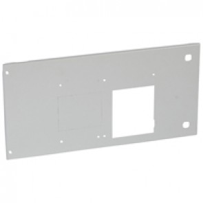 Metal faceplate XL³ 4000 - DPX 630 draw-out - horizontal - hinges and locks