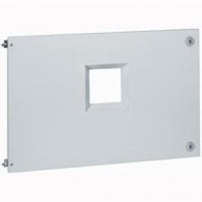 Metal faceplate XL³ 4000 - DPX 1600 draw-out - horizontal - hinges and locks