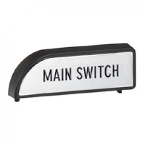 Duty label - for isolating switch padlockable faceplate - marked ''Main switch''