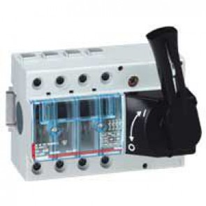 Isolating switch Vistop - 63 A - 4P - front handle, black - 7 modules