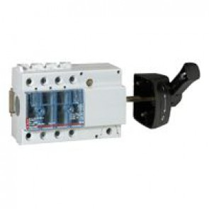 Isolating switch Vistop - 63 A - 3P - side handle, black - 7 modules