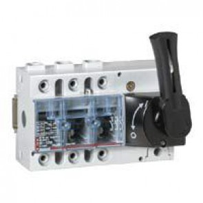 Isolating switch Vistop - 100 A - 3P - front handle, black - 7.5 modules