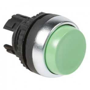 Osmoz non illuminated spring return head - projecting Ø22 - green