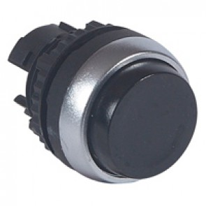 Osmoz non illuminated spring return head - projecting Ø22 - black