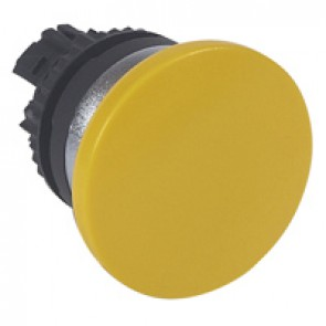 Osmoz non illuminated spring return head - mushroom head Ø40 - yellow
