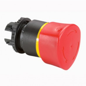 Osmoz non illuminated stay-put mushroom head - push-turn EN 418 - red Ø40