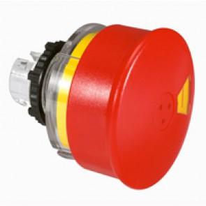 Osmoz non illuminated stay-put mushroom head - push-pull EN 418 -red Ø54 STOP-I