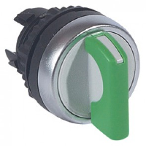 Osmoz non illuminated standard handle selector switch - 2 stay-put positions - green