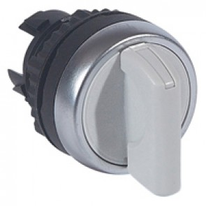 Osmoz non illuminated standard handle selector switch - 2 stay-put positions - grey
