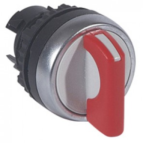 Osmoz non illuminated standard handle selector switch - 3 stay-put positions - red