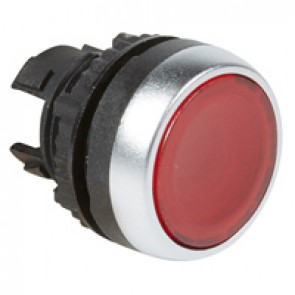 Osmoz illuminated spring return head - flush - red
