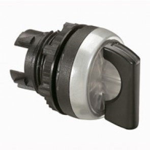 Osmoz illuminated standard handle selector switch - 2 stay-put positions 45° - black