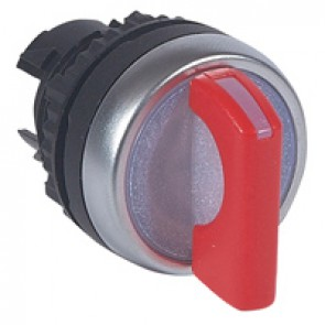 Osmoz illum standard handle selector switch - 2 stay-put positions (0-12h) - red