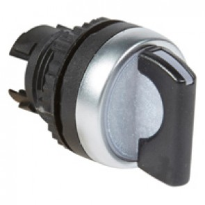 Osmoz illuminated standard handle selector switch - 2 stay-put positions 90° - black