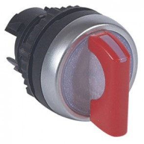 Osmoz illum standard handle selector switch - 3 positions spring return to 0 - red