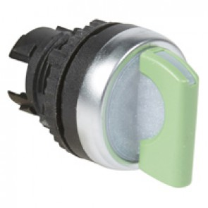 Osmoz illum standard handle selector switch - 3 positions spring return to 0 - green