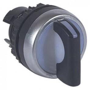 Osmoz illum standard handle selector switch - 3 positions spring return to 0 - black