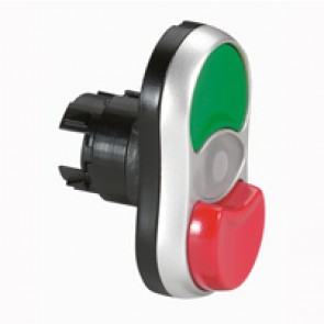 Osmoz illuminated head twin touch - flush/projecting - green/red