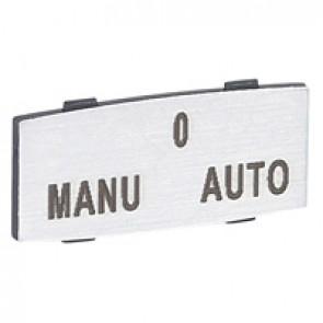 Osmoz legend plate - with engraving - alu - standard modulesl - ''MANU-O-AUTO''
