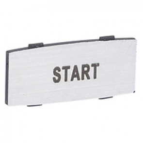 Osmoz legend plate - with engraving - alu - standard modulesl - ''START''