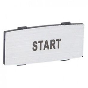 Osmoz legend plate - with engraving - alu - standard modulesl - ''START''