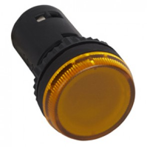 Osmoz one-piece pilot light with integrated LED to be used without electrical block - yellow - 24 V~/=