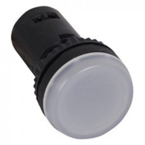 Osmoz one-piece pilot light with integrated LED to be used without electrical block - white - 130 V~