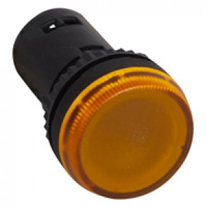 Osmoz one-piece pilot light with integrated LED to be used without electrical block - yellow - 130 V~