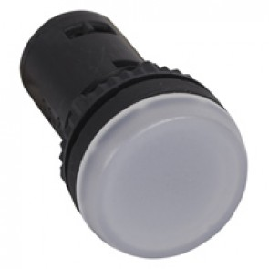Osmoz one-piece pilot light with integrated LED to be used without electrical block - white 230 V~