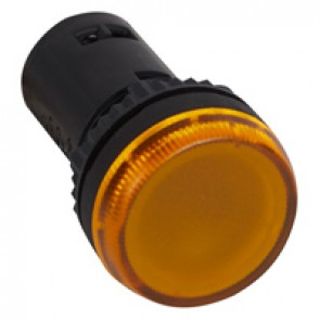 Osmoz one-piece pilot light with integrated LED to be used without electrical block - yellow 230 V~