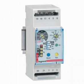 Residual current relay - to clip on rail - 2 modules
