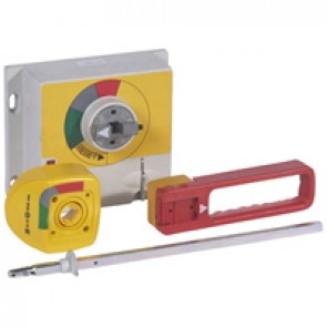 Rotary handle - for DPX 1250/1600 - vari-depth IP55 - emergency use -red/yellow