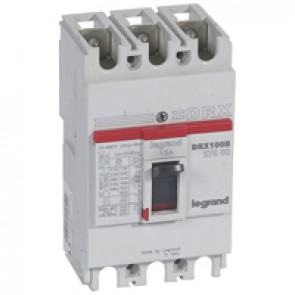 MCCB - DRX 125 - thermal magnetic - Icu 10 kA - 415 V~ - 3P - In 15 A