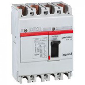 MCCB - DRX 125 - thermal magnetic - Icu 10 kA - 415 V~ - 4P - In 15 A