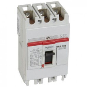 MCCB - DRX 125 - thermal magnetic - Icu 20 kA - 415 V~ - 3P - In 100 A