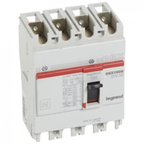 MCCB - DRX 125 - thermal magnetic - Icu 20 kA - 415 V~ - 4P - In 15 A