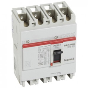 MCCB - DRX 125 - thermal magnetic - Icu 20 kA - 415 V~ - 4P - In 25 A