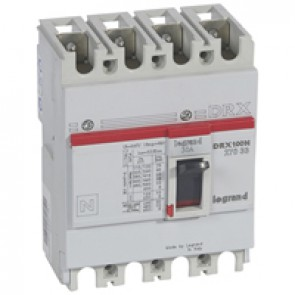 MCCB - DRX 125 - thermal magnetic - Icu 20 kA - 415 V~ - 4P - In 30 A