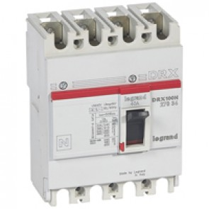 MCCB - DRX 125 - thermal magnetic - Icu 20 kA - 415 V~ - 4P - In 40 A