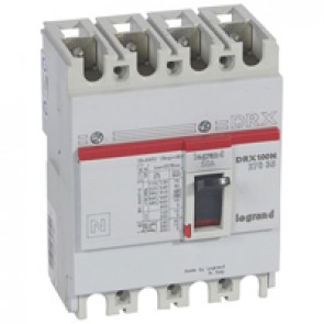 MCCB - DRX 125 - thermal magnetic - Icu 20 kA - 415 V~ - 4P - In 50 A