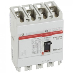 MCCB - DRX 125 - thermal magnetic - Icu 20 kA - 415 V~ - 4P - In 60 A