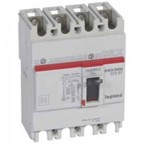 MCCB - DRX 125 - thermal magnetic - Icu 20 kA - 415 V~ - 4P - In 75 A