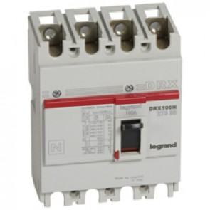 MCCB - DRX 125 - thermal magnetic - Icu 20 kA - 415 V~ - 4P - In 100 A