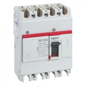 MCCB - DRX 125 - thermal magnetic - Icu 20 kA - 415 V~ - 4P - In 125 A