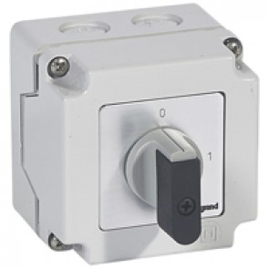 Cam switch - on/off switch - PR 12 - 3P - 16 A - 3 contacts - box 76x76 mm